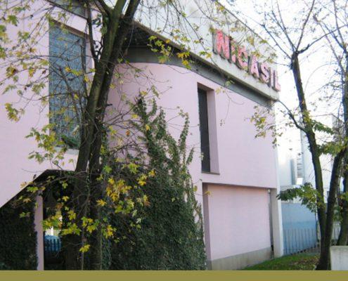 Foto della sede Nicasil: insegna e accesso