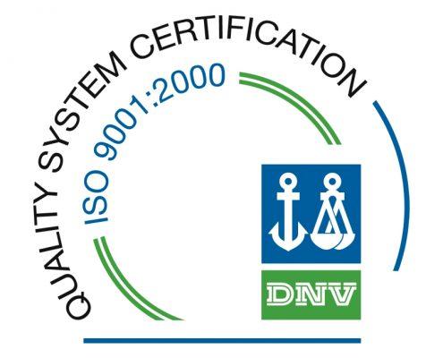 Certificato di qualità ISO 9001:2000