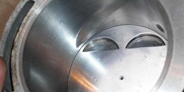 dettaglio su componente metallico trattato