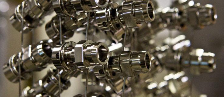 Componenti metallici sottoposti a nichelatura chimica